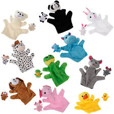 Hand Finger Puppet Zoo Farm Animal Sock Glove story teaching Sack Plush Toy Cute