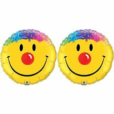 Qualatex 18 Inch Round Colourful Smiley Face Foil Balloon