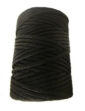 NEW NYLON Braided Cord rope. COMPLETE ROLL. 2mm, 3mm, 4mm, 5mm, 6mm. BLACK