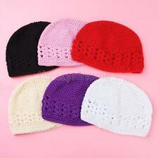 Lovely Handmade Crochet Knit Cotton Beanie Cap Hat for Baby Toddler Kids