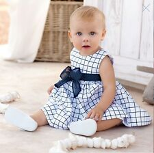 Flower Girl Baby Girl Plaid Skirt Cute Dress Toddler Party Pagent Tulle Dress