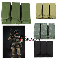 Airsoft Tactical Molle Triplex Magazine Pouch - Olive Drab/BLack/Tan/ACU