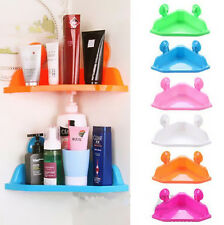 Sucker Corner Shelf Kitchen Home Bathroom Wall Storage Rack Triangle Shelf Pop