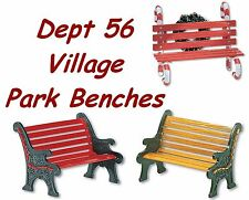 Dept 56 Village Accessories - Park Benches - 3 Styles To Choose From - New