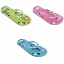 FLOSO Womens/Ladies Hawaiian Flower Toe Post Flip Flops