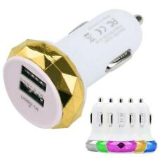 Universal Mini Dual USB Port Car Charger Adapter Bullet For IPhone For Samsung
