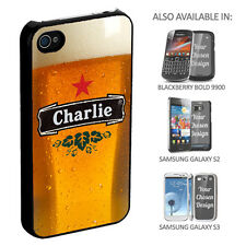 Personalised Beer Phone Case Iphone 5 4 Samsung Galaxy Birthday Gift Dad Brother