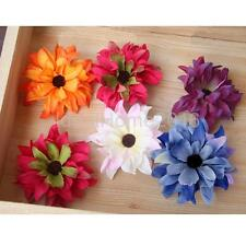20x Artificial Silk Daisy Flower Heads Appliques Craft Sandals Bridal Craft