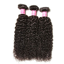 3 Bundles 7A Peruvian Kinkly Curly Virgn Hair Human Hair Extensions Weave 300g