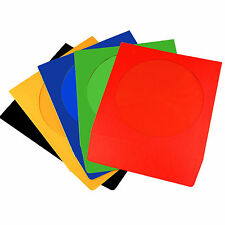 NEO CD/DVD PAPER SLEEVES COLOURED SLEEVE COVER CASE WITH WINDOW & FLAP 100 GSM
