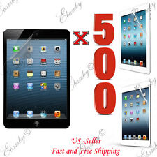 Wholesale 500pcs Premium Clear Film Screen Protector For iPad 4 3 2 1 Air Mini