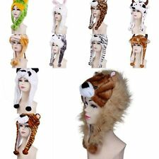 Cute Winter Warm Cartoon Animal Hat Beanie Fluffy Plush Earmuff Cap Costume New