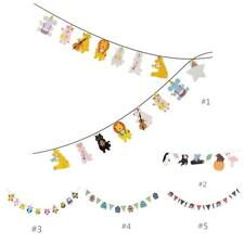 Cartoon Paper Flag Party Decoration Banner Bunting for Birthday Wedding Party