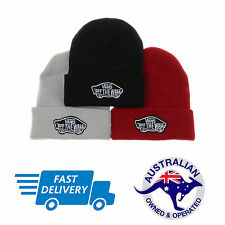 Vans Off The Wall Beanie Grey, Black & Red - AUS STOCK