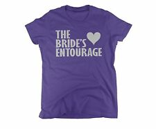 brides entourage t-shirt bachelor party tees for women ladies tshirt xl t shirt