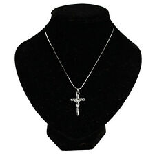 1 Pc Necklace 2016 Jewelry Silver Christ Cross Chain Jesus HOT Crucifix Pendant