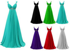 New Chiffon Prom Dress Long Evening Party Formal Prom Bridesmaid Gown Stock6-16