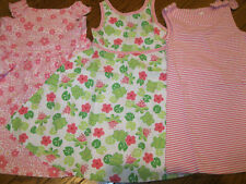 NWT Gymboree Leapin Lily Pads Froggy Line Pink,Stripe or White Girls Dress 3