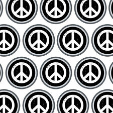 Premium Gift Wrap Wrapping Paper Roll Peace Sign Symbol