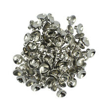50pcs 6/8mm Blank Round Cup Cap for Pearl Ball Bead Bail Connector DIY Pendant