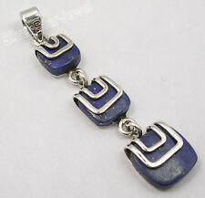 925 Silver LONG Pendant, LAPIS, MALACHITE & Other Gemstones Variation SEE MORE