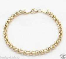 5mm Round Rolo Chain Charm Anklet Ankle Bracelet Real 14K Yellow Gold FREE SHIP