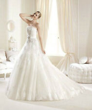 New Organza White Ivory Ball Gown Wedding Dress Bridal Ball Gown Custom Size