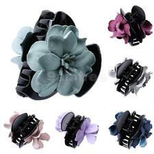 Girls Cloth Flower Jaw Clip Barrette Hair Claw Accessories