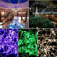 10M 100LED Bulbs Christmas Fairy Party String Lights Lamp Waterproof US/EU EA77