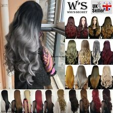 3/4 Wig Fall Half Wig Clip In Hair Piece Long Straight Curly Wavy Newcome Ombre