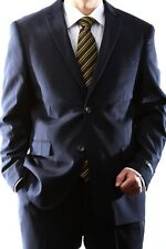 MENS NAVY TWO BUTTON SLIM FIT EXTRA FINE DRESS SUIT, SML-60512H-60503-NAV