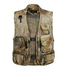 Men Multi-Pocket Mesh Vest Fly Fishing Photography Travel Outdoor Sports Jacket