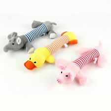 Pet Puppy Chew Squeaker Squeaky Plush Sound Pig Elephant Duck Ball Dog Toys JU