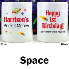 Personalised Kids Money Boxes - Space - Add a Name & Message