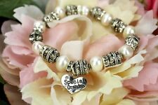 Special Grandma Pearl Bead Bracelet - Birthday, Mothers Day Gift