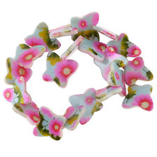 5strings Fashion Flower Pattern Butterfly Shell Loose Spacer Bead Charms Lots J