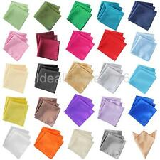 10Pcs Solid Pure Color Wedding Napkin Pocket Square Handkerchief Pocket Hanky