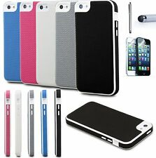 For iPhone 5C +Film Colorful Heavy Duty Shockproof Hybrid Rugged Hard Case Cover