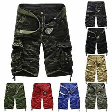 Cool Mens Army Cargo Combat Camo Shorts Camouflage Leisure Overall Sports Pants