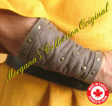 Medieval Armor Celtic Viking Men at Arms Padded Bracers with Leather Rims Deluxe
