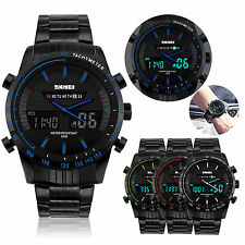 SKMEI Men Sport Watch Waterproof Dual Time Analog Quartz Date Digital Wristwatch