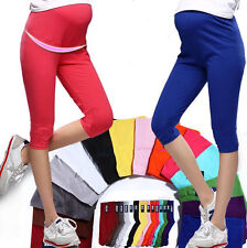 Cotton Capris Elastic Leggings Maternity Pregnant Women 7 Pant Pop Comfortable