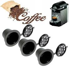 New 1/3/6pcs Refillable Coffee Capsule Cup Reusable For Nespresso Machine