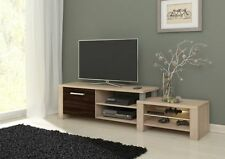 Modern TV Cabinet Stand Lowboard Media Entertainment Unit Salma Door and Shelves