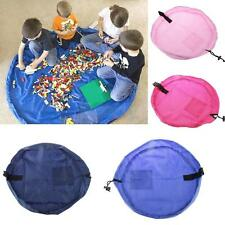 Portable Kids Toy Storage Bag Sack Play Mat Organizer Pouch Picnic Travel Rug