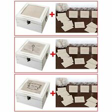 Choice of Antique Well Wishing Wedding Card Boxes With 48 Lace Guest Cards