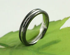 Gatik R1006 Ladies 316L Stainless Steel Two Colour 5mm Band Ring