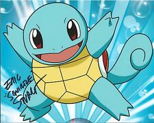 ERIC STUART SIGNED 8x10 PHOTO SQUIRTLE POKEMON GO ANIME AUTOGRAPHED COA
