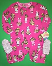 NEW! Carters 'Monkey' Girls 1 Pc Sleeper Zip Footed Pajamas PJ 24 Months Gift!