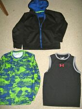 UNDER ARMOUR,  CHAMPION, STARTER LOT OF BOYS SHIRT AND ZIP FRONT HOODIE,LARGE